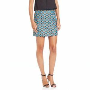 Milly Geometric Jaquard Mini Skirt